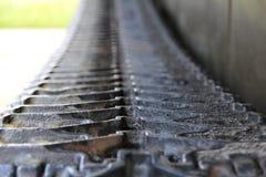 Friedensgleiskettenfahrzeug gemacht vom Eisen Lizenzfreie Stockfotografie