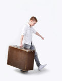 Schwerer Koffer Stockfoto