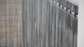 Schwerer Regenguß des Regens Stockfoto