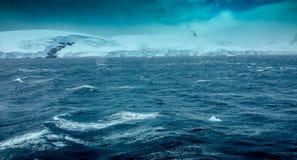Schwerer See in der Antarktis Stockbilder