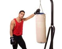 Schweres Beutel-Training stockbild