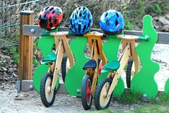 Schweres Fahrradparken Lizenzfreies Stockfoto