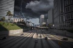 Schweres Gewitter mit Blitz Lizenzfreies Stockfoto