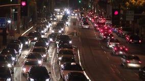 Schweres im Stadtzentrum gelegenes Verkehr timelapse stock video