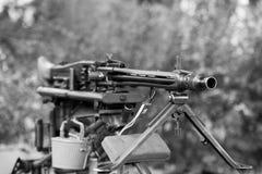 Schweres Maschinengewehr Stockfoto
