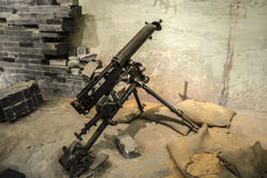 Schweres Maschinengewehr Stockbild