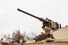 Schweres Maschinengewehr gelassen Stockfotografie