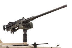 Schweres Maschinengewehrrecht - lokalisiert Stockfotos