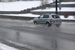 Schweres regnerisches Wetter in Lewiston-Tal stockfotos
