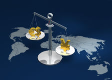 Schwergewichts- Yen-Wiedergabe Stockfoto
