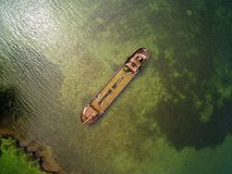 Schwerin είναι καταπληκτικό - βυθισμένο σκάφος στο μουσείο εδώ κοντά από τον αέρα Στοκ φωτογραφίες με δικαίωμα ελεύθερης χρήσης