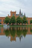 Schwerin. Buildings of the city of Schwerin in northern Germany stock image