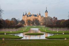 Schwerin Castle, Germany. For centuries the palace was the home of the dukes and grand dukes of Mecklenburg and later Mecklenburg-Schwerin. It currently serves Royalty Free Stock Photography