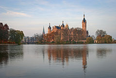 Schwerin Castle, Germany. For centuries the palace was the home of the dukes and grand dukes of Mecklenburg and later Mecklenburg-Schwerin. It currently serves Stock Photos