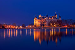 Schwerin Castle, Germany. For centuries the palace was the home of the dukes and grand dukes of Mecklenburg and later Mecklenburg-Schwerin. It currently serves Royalty Free Stock Photo