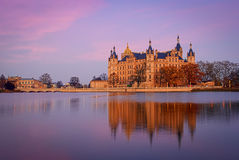 Schwerin Castle, Germany. For centuries the palace was the home of the dukes and grand dukes of Mecklenburg and later Mecklenburg-Schwerin. It currently serves Royalty Free Stock Images