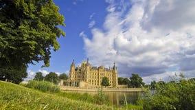 Schwerin Castle, Germany stock video footage