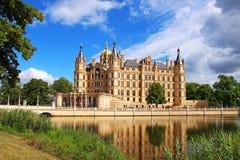 Schwerin Castle, Germany. Schwerin Castle (Schweriner Schloss) reflected in the lake, Germany Stock Images