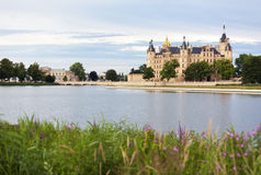 Schwerin Castle and lake Royalty Free Stock Images