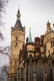 Schwerin Castle in northern germany Stock Photos