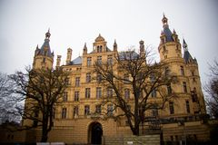 Schwerin Castle in northern germany Stock Photography
