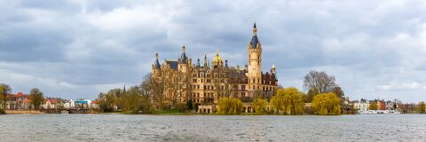 Free Schwerin Castle Schweriner Schloss Parliament Government Mecklenburg-Vorpommern Panoramic View In Germany Royalty Free Stock Photos - 218083058
