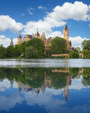 Schwerin Castle (Schweriner Schloss) in summer day Royalty Free Stock Photography