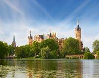 Schwerin Castle in summer day Stock Image