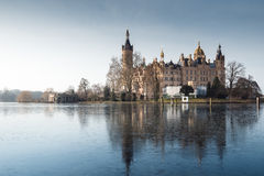The Schwerin Castle in Winter Royalty Free Stock Images