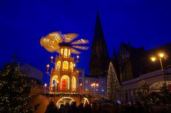 Schwerin christmas market Stock Photo