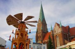 Schwerin christmas market Royalty Free Stock Image