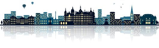 Free Schwerin Germany Skyline City Isolated Vector Royalty Free Stock Photos - 127732308