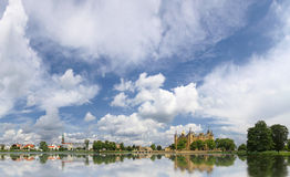 Schwerin old town with castle and lake, Germany Stock Photo