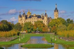 Schwerin palace Stock Photo