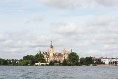 The Schwerin palace and the castle-island Stock Photography