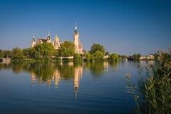 Schwerin Palace. Schwerin Castle (Schweriner Schloss) reflected in the lake Royalty Free Stock Photos