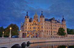 Schwerin palace night Stock Image