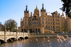 Schwerin Palace, or Schwerin Castle, palatial schloss on an isla Stock Images