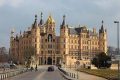 Schwerin slott fotografering för bildbyråer