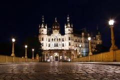 Schwerin slott, Tyskland Arkivfoto