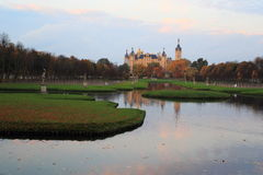 Schwerin at sunset Royalty Free Stock Photo