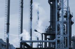 Schwerindustrie des Schmieröls und des Gases Stockfotos
