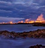 Schwerindustrie nahe Gladstone, Queensland Stockbild