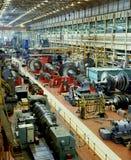 Schwerindustrie - Turbinen-Fertigung Stockfoto