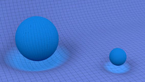 Schwerkraft-Wellen lizenzfreie abbildung