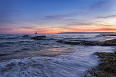 Schwermütig nach Sonnenuntergang lizenzfreie stockbilder