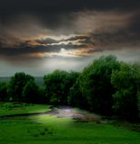 Schwermütige Landschaft Stockfotografie