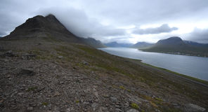 Schwermütiges Alftafjordur Lizenzfreies Stockfoto