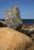 Schwerpunkt-Felsen Stockbilder