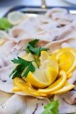 Schwertfische carpaccio Lizenzfreie Stockfotografie